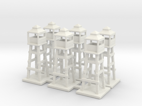 1/285 watch tower x6 in White Strong & Flexible
