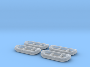 12ft White water raft 01.HO Sscale (1:87) in Smooth Fine Detail Plastic