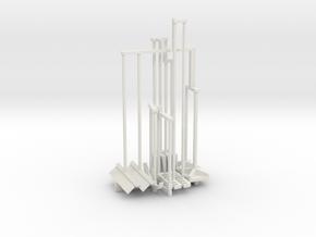 Hand Tools Set 1-25 Scale in White Natural Versatile Plastic