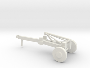 1/87 Scale Lance Missile Launch Trailer in White Natural Versatile Plastic
