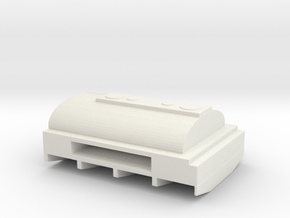 1/87 Scale M50 Water Tank Bed in White Natural Versatile Plastic