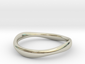 Ring free form - Size 8 in 14k White Gold