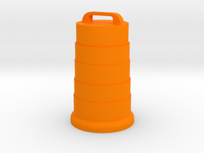 Safety Barrel in Orange Processed Versatile Plastic: 1:48 - O