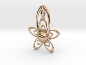 At Pendant in 14k Rose Gold Plated Brass