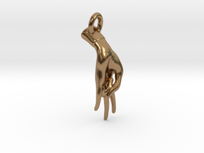 Surya Mudra Pendant/ Charm in Natural Brass