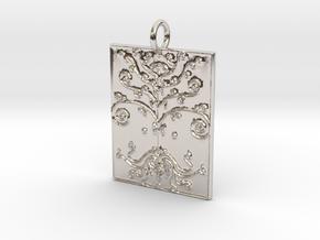 Tree of Life Veve Pendant in Platinum