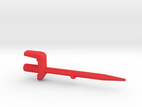 Dinobot Slash's Sword (PotP) in Red Processed Versatile Plastic: Large