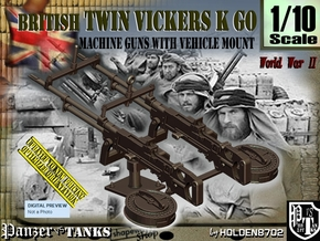 1/10 Twin Vickers K GO in Smooth Fine Detail Plastic