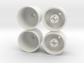Marui Big Bear Rear Wheels in White Natural Versatile Plastic