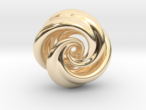 Integrable Flow (7, 2) in 14k Gold Plated Brass
