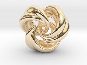 Integrable Flow (5, 3) in 14K Yellow Gold