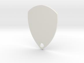 key chain gitar pic in White Natural Versatile Plastic
