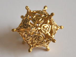 D20 Balanced - Snakes in Natural Brass