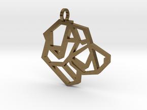 Geometric Labrador Necklace in Natural Bronze