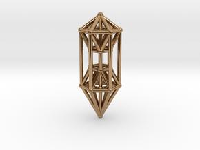 Phi Vogel Crystal Healingstick in Polished Brass