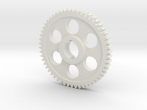"54T Atlas/Craftsman 12"" lathe Change Gear in White Natural Versatile Plastic"