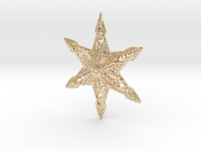 Snowflake A in 14k Gold Plated Brass