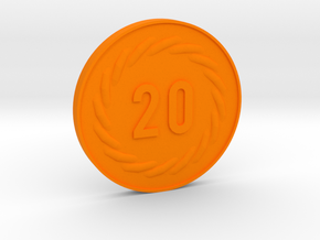 20 Coin in Orange Strong & Flexible Polished