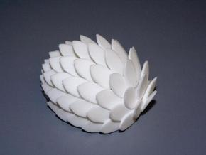 Wiwaxia v1 in White Processed Versatile Plastic
