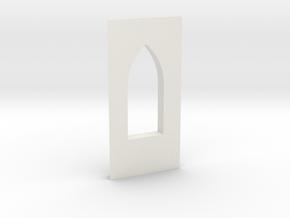 shkr010 - Teil 10 Seitenwand mit Fensteröffnung in White Natural Versatile Plastic