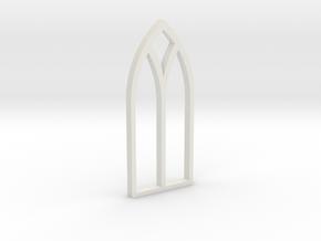 shkr012 - Teil 12 Seitenfenster gotisch in White Natural Versatile Plastic
