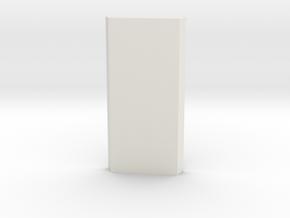 shkr001 - Teil 1 Seitenwand fensterlos angefast in White Natural Versatile Plastic