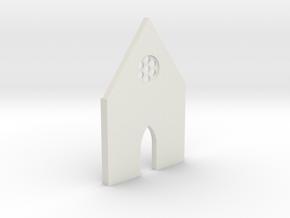 shkr008 - Teil 8 Front hoch kurz Fenster in White Natural Versatile Plastic