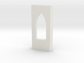 shkr028 - Teil 28 Seitenwand mit Fensteröffnung Vo in White Natural Versatile Plastic