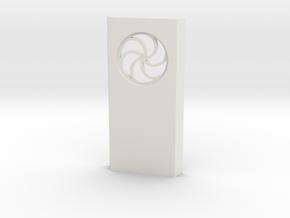 shkr035- Teil 35 Seitenwand mit Fenster rund goti in White Natural Versatile Plastic