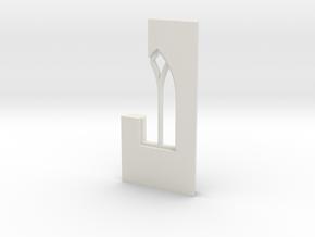 shkr039 - Teil 39 Seitenwand mit Fenster1-2 abgebr in White Natural Versatile Plastic