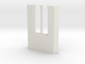 shkr046 - Teil 46 Seitenwand mit Fenster1-3 abgebr in White Natural Versatile Plastic