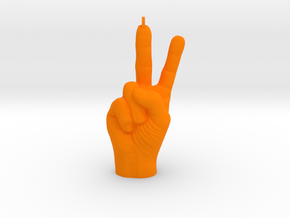 2015: Peace, Baby! in Orange Strong & Flexible Polished