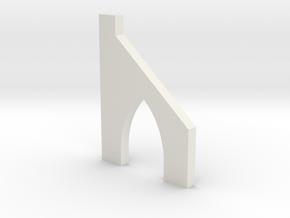 shkr054 - Teil 54 Stützmauerpfeiler mit Durchgang  in White Natural Versatile Plastic