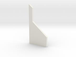 shkr056 - Teil 56 Stützmauerpfeiler breit voll Höh in White Natural Versatile Plastic