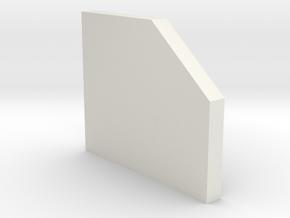 shkr058 - Teil 58 Stützmauerpfeiler breit 1-3 Höhe in White Natural Versatile Plastic