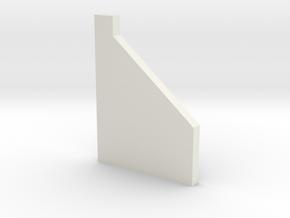 shkr057 - Teil 57 Stützmauerpfeiler breit 1-2 Höhe in White Natural Versatile Plastic