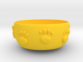 Cat food bowl A in Yellow Processed Versatile Plastic: Medium
