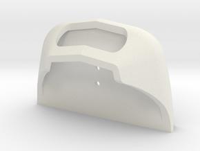 Plan U spoiler. scale 0 (1:45) in White Natural Versatile Plastic