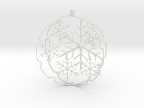Snowball decoration in White Natural Versatile Plastic