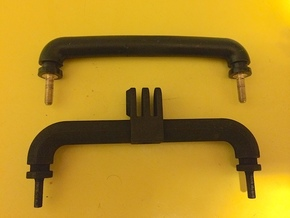 Jeep Wrangler JK Footman Loop GoPro Mount in Black Natural Versatile Plastic