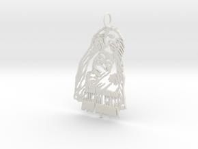 Bob Marley Pendant in White Natural Versatile Plastic