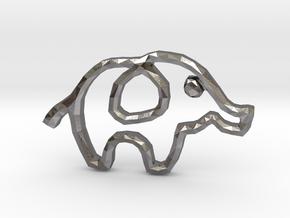 Republican's Elephant Symbol in Polished Nickel Steel