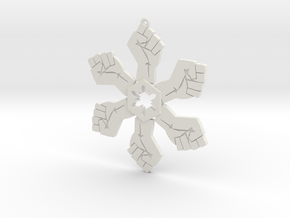 Resist snowflake (2.6 in.) in White Natural Versatile Plastic