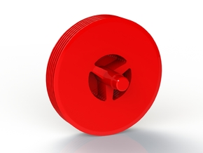 Tesla Turbine 6 Disc Rotor in Red Strong & Flexible Polished