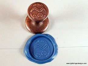 Easter Egg Wax Seal in Polished Bronzed Silver Steel