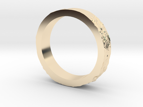 Lunar Landing Site Female (Thin) Moon Ring in 14K Yellow Gold: 3 / 44