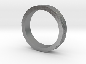 Lunar Landing Site Female (Thin) Moon Ring in Natural Silver: 3 / 44