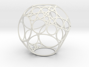 Bowers Circle Packing Ornament - 40 Circles in White Natural Versatile Plastic: Medium