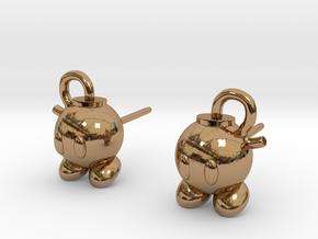 Bobomb Stud Earrings in Polished Brass