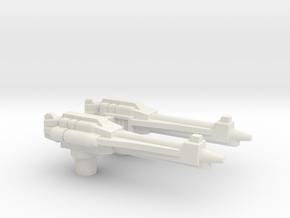 Gravity-Rod Rifles for TR Cloudraker in White Premium Versatile Plastic
